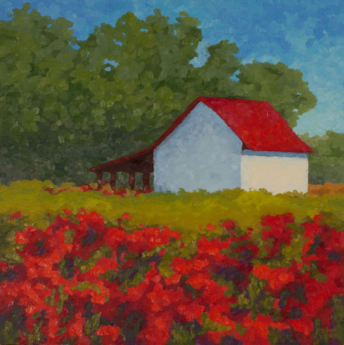 Reds of Summer, 24 x 24, SOLD