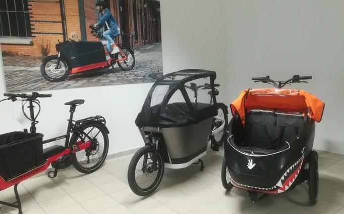Eine große Auswahl an verschiedenen Lastenfahrrädern finden Sie in München