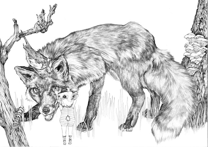Submission for the Lemniscaat childrensbook illustration contest, pencil on paper