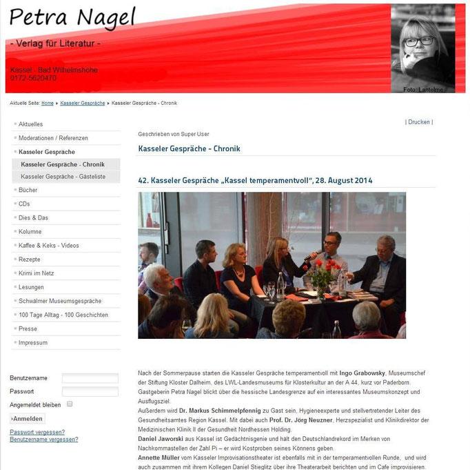 Daniel Jaworski / Petra Nagel Kasseler Gespräche August 2014