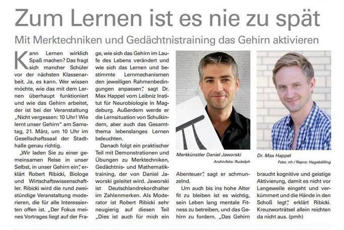 Hessische/Niedersächsische Allgemeine Zeitung März 2015 - Kasseler Gesundheitstage