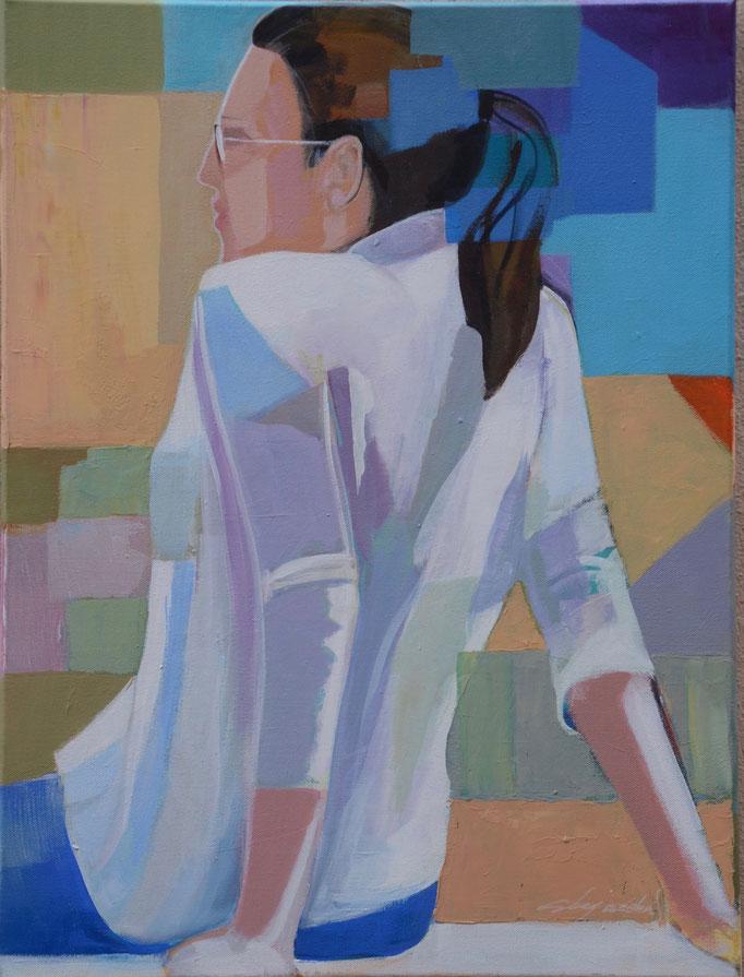 Assise de dos. 61 X 46 cm Acrylique /toile