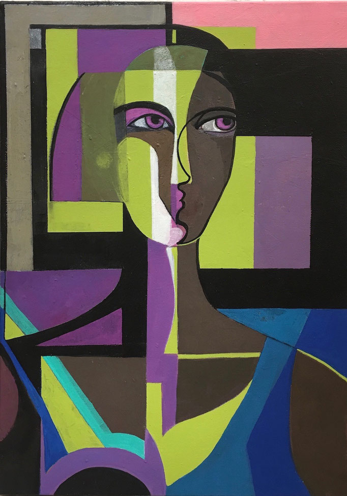 "Mystery woman""  14,96 x18,11 In"