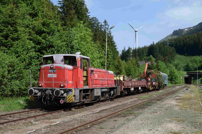 Kurz vor der Abfahrt im Bahnhof Präbichl