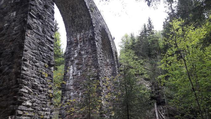 das Viadukt von unten...