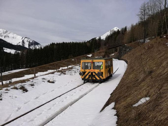 Der Streckenabschnitt über die Bremsbergbrücke hinaus bleibt vorerst noch verschont