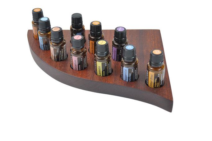 Sapeliholz Aufsteller/Display für 10 Fl. dōTERRA oil