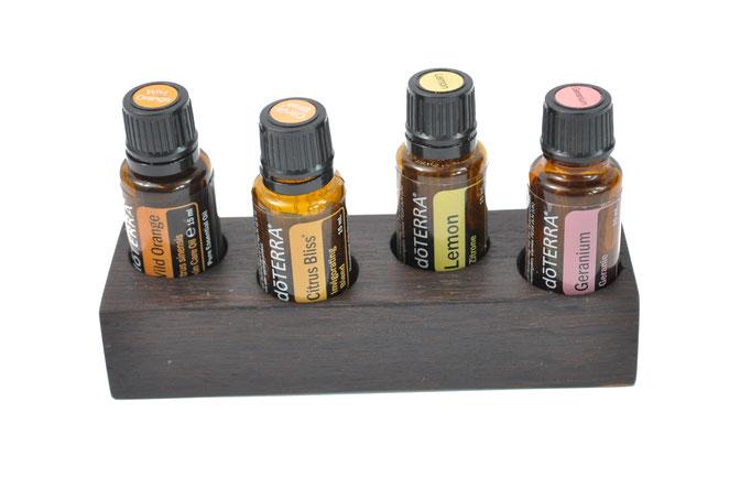 Mooreichenholz Aufsteller/Display für 4 Fl. dōTERRA oil