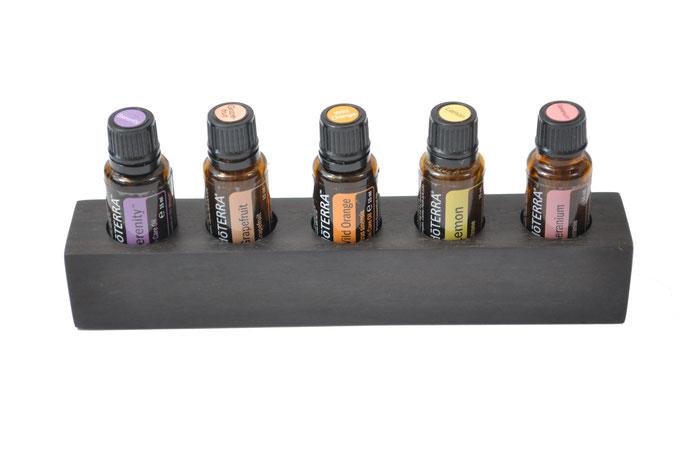 Ebenholz Aufsteller/Display für 5 Fl. dōTERRA oil