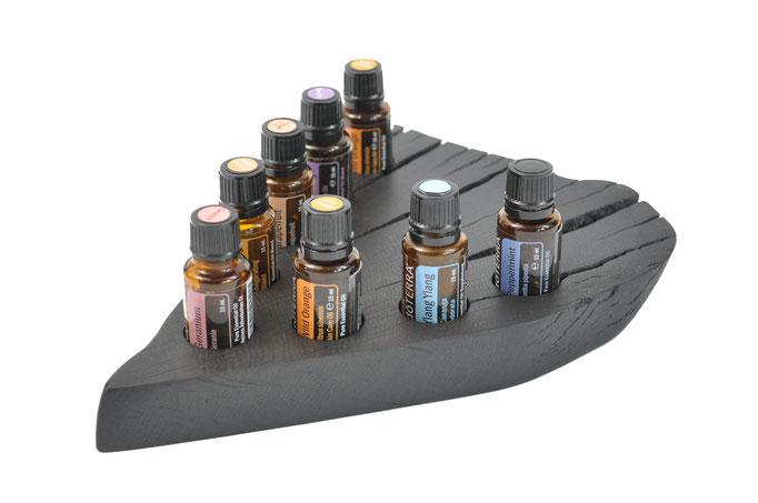 Mooreichenholz Aufsteller/Display für 8 Fl. dōTERRA oil