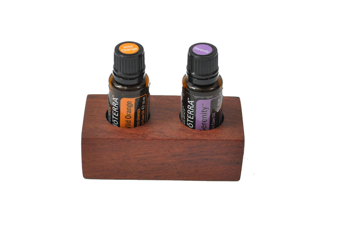 Palisanderholz Aufsteller/Display für 2 Fl. dōTERRA oil