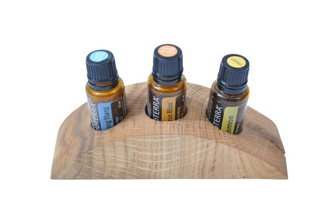 Eschenholz Aufsteller/Display für 3 Fl. dōTERRA oil
