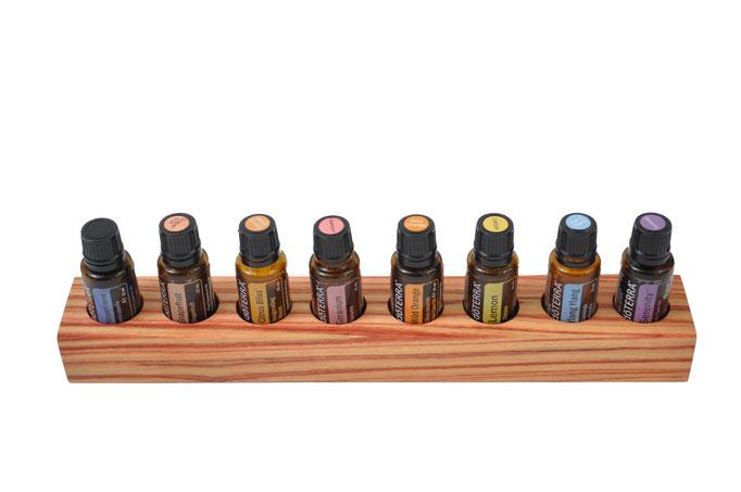 Rosenholz Aufsteller/Display für 7 Fl. dōTERRA oil