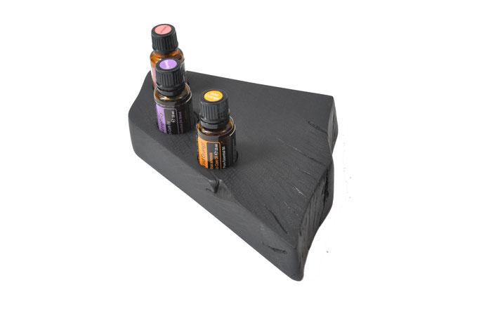 Mooreichenholz Aufsteller/Display für 3 Fl. dōTERRA oil