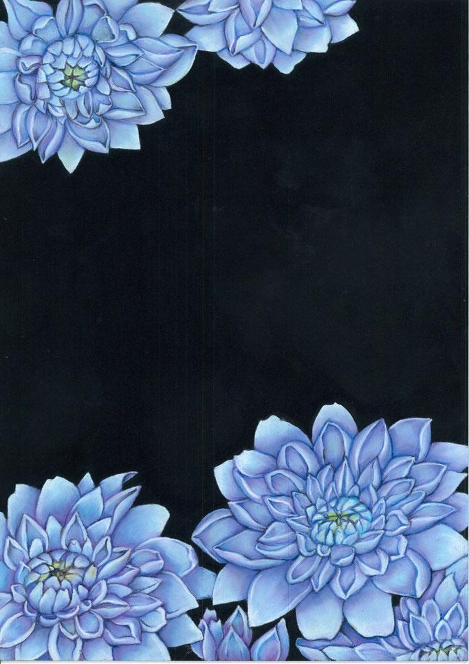 青い花A3