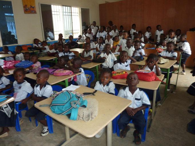 Eine Klasse in der Tusikama-Schule