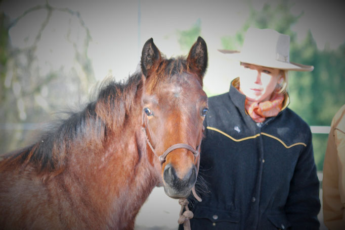 Haylee mit ihrer neuen Besitzerin Kathrin Weidner (von Copper Mountain - Horsemen's ranch and lodge)