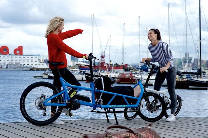 beladenes Riese und Müller Cargo e-Bike