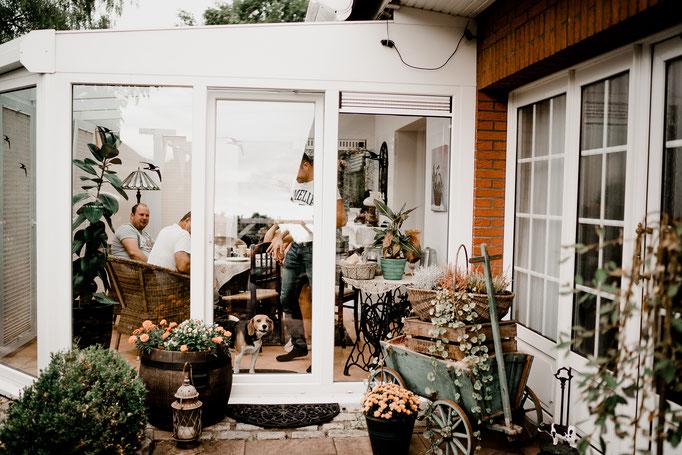 Bremen, Hund bellt, schlägt an, Wintergarten, Scheibe,