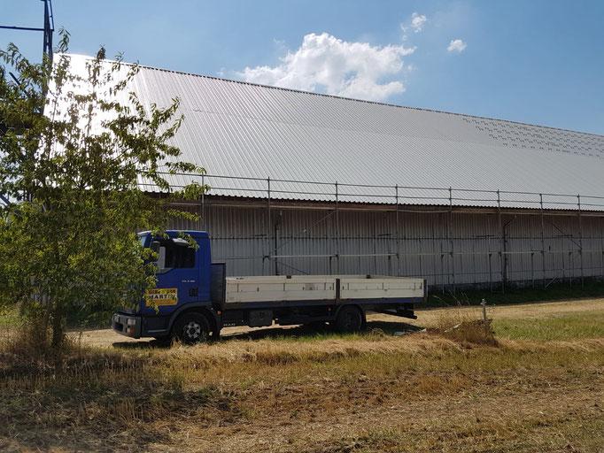 Gerüstbau Martin in 01744 Reinholdshain - Gerüst für ein neues Dach und Solaraufbau