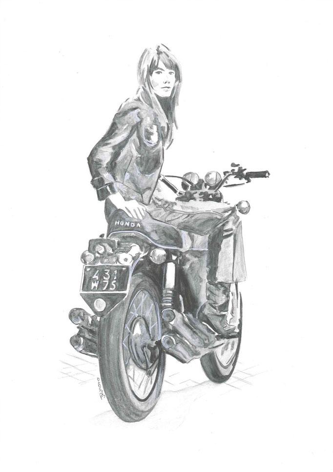 #hardy #françoisehardy #moto