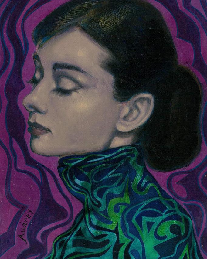 «Audrey Hepburn» técnica mixta sobre papel - 40 x 30 cm - 2020