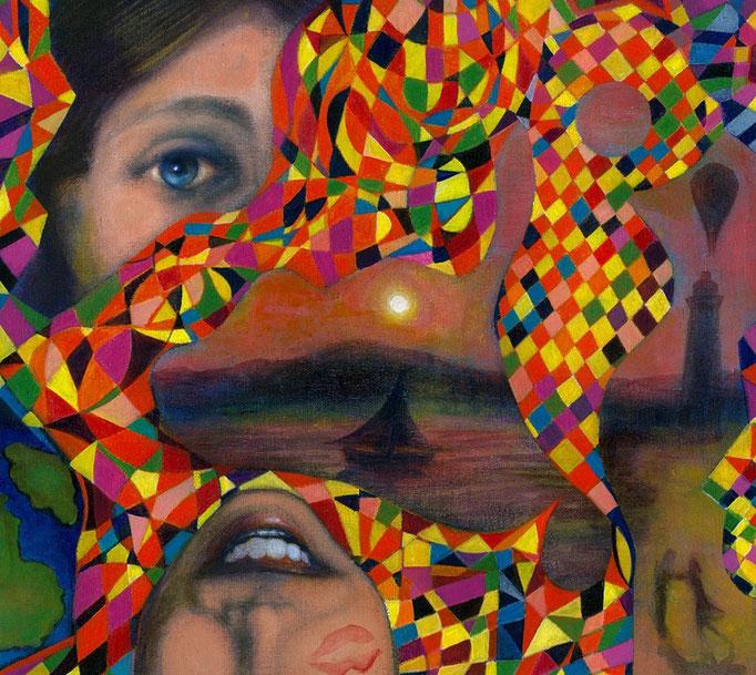 «Odisea» acrílico sobre lienzo - 35 x 35 cm - 2014