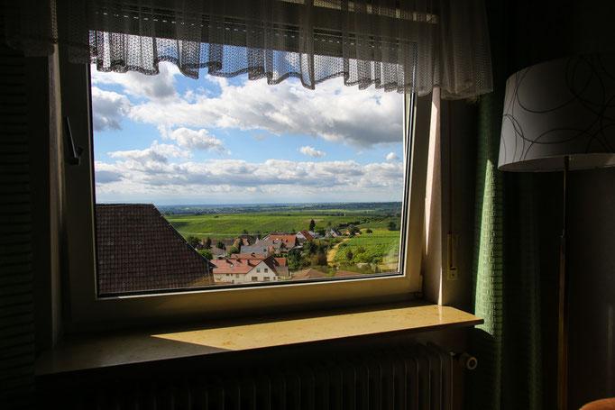 Hotel-Pension Weinberg mit Fernblick vom Aufenthaltsraum