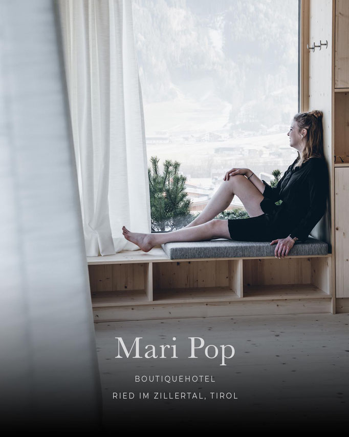 die schönsten Hotels in den Alpen/Tirol: MARI POP HOTEL Boutique Hotel, Zillertal, Tirol/Österreich