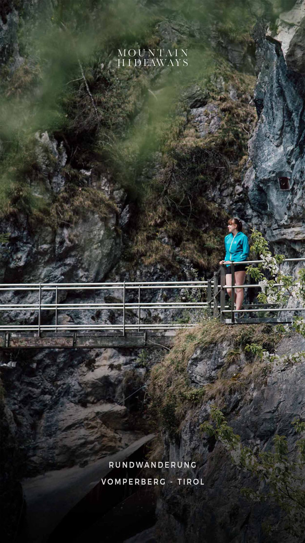 Schluchten Wanderung mit Natur Pools in Vomperberg/Vomperloch - Tirol, leichte Rundwanderung #mountainhideaways