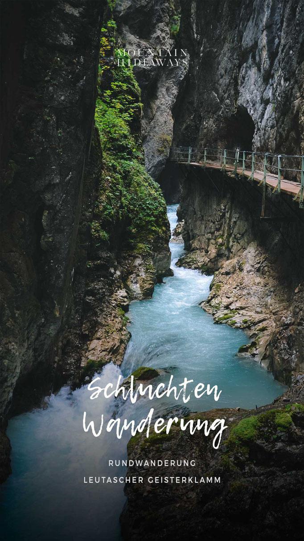Leutascher Geisterklammer - beeindruckende Schluchtenwanderung zwischen Tirol und Bayern (Wasserfall, Hängebrücke - Panoramabrücke) #mountainhideaways