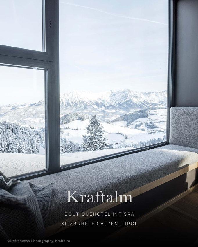 die schönsten Hotels in den Alpen/Tirol: KRAFTALM, Boutiquehotel mit Spa, Hohe Salve Kitzbüheler Alpen - Tirol/Östereich