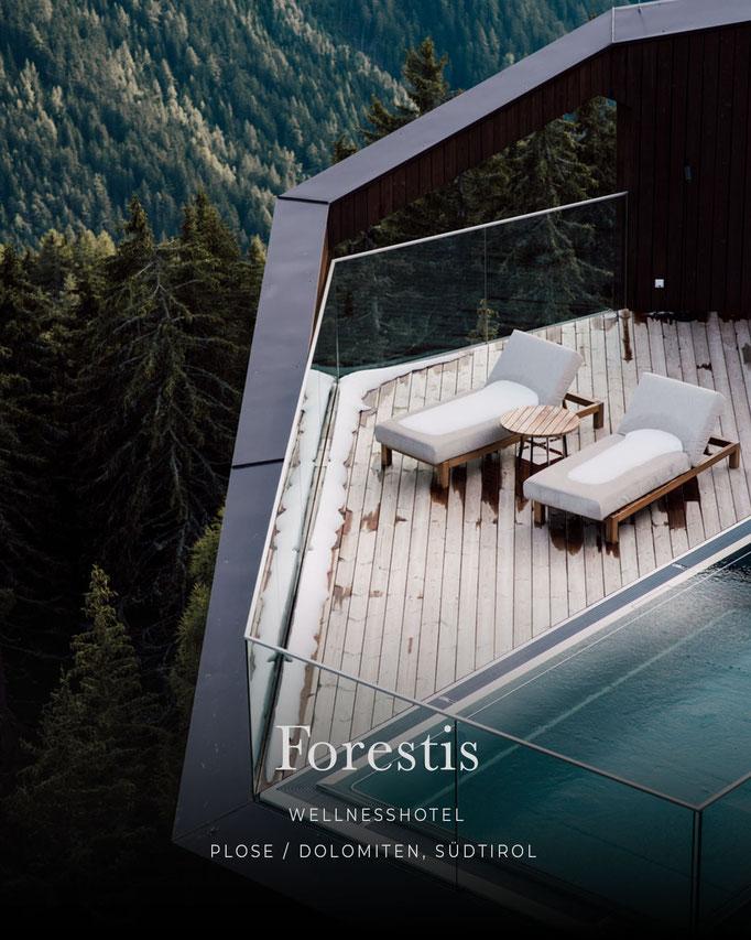 die schönsten Hotels in den Alpen: FORESTIS DOLOMITES, Luxushotel, Wellnesshote, Plose - Südtirol/Italien