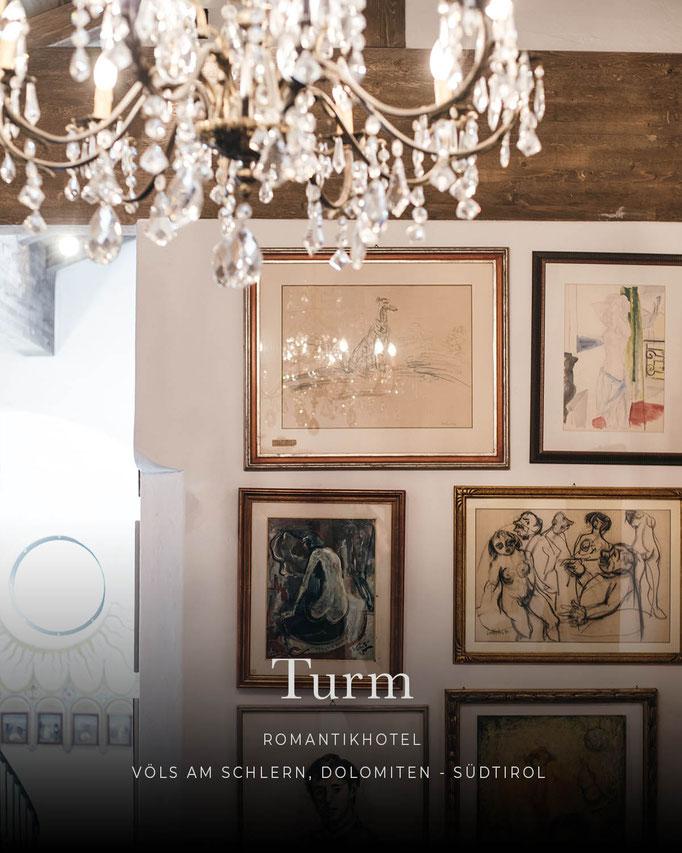 die schönsten Hotels in den Alpen: Romantikhotel TURM, Völs am Schlern, Dolomiten, Südtirol/Italien