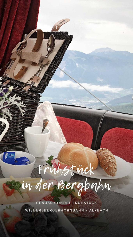 Genussgondelfrühstück - ein besonderes Erlebnis! Frühstück in der Bergbahn Gondel, Alpbach - Tirol, Wiedersbergerhornbahn