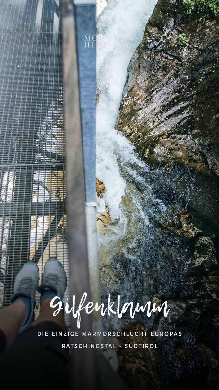 Gilfenklamm - Ratschingstal bei Sterzing, Erlebniswanderung, Schluchtenwanderung, Klammwanderung, Familienausflug - Südtirol #mountainhideaways