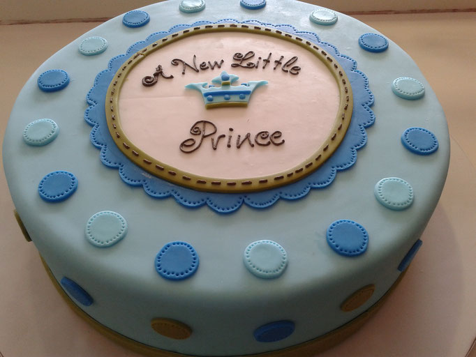pastel fondant baby shower a new little prince