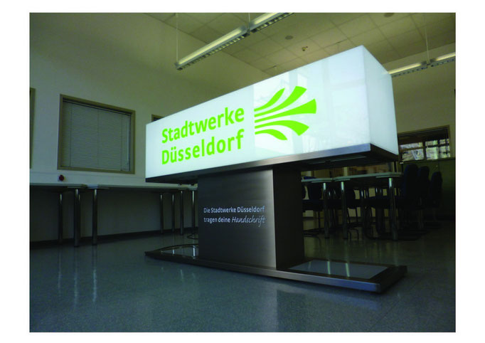 Stadtwerke Düsseldorf | Leuchtvitrine