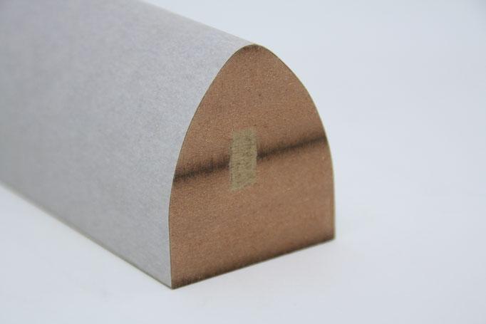 Designleiste für Wand, Decke - Einsatz: Objekt, Akustische Decke, Wandverkleidung, Träger: schwer entflammbares MDF-B1, Oberfläche: Grundierlaminat
