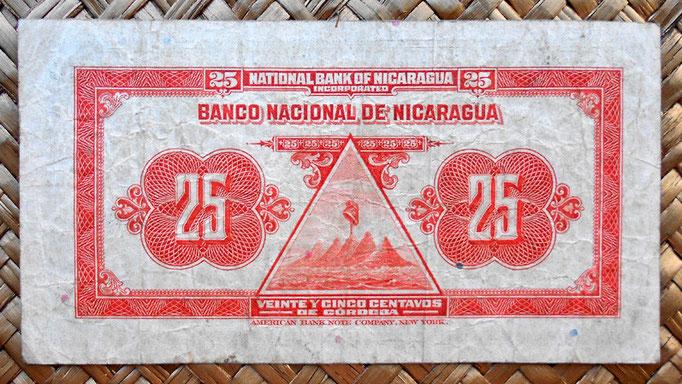 Nicaragua 25 centavos de cordoba 1938 reverso