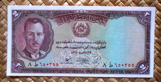 Afganistan 2 afganis 1939 (144x70mm) anverso