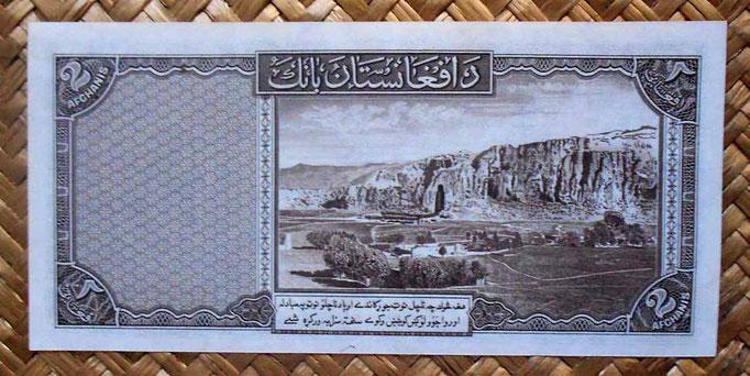 Afganistan 2 afganis 1939 reverso