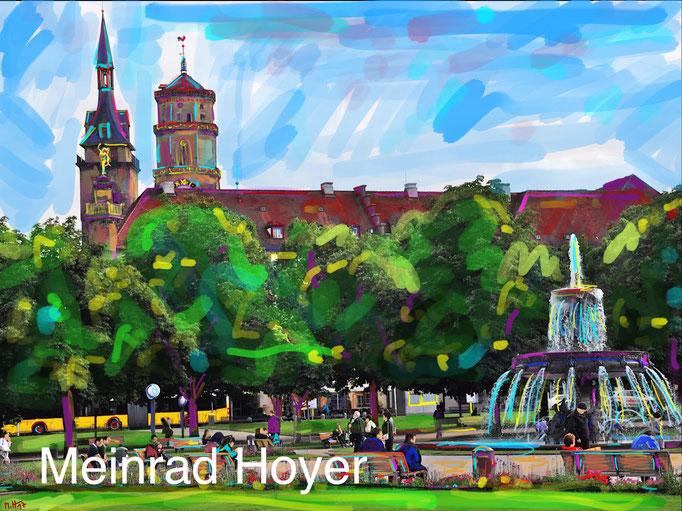 Auf dem Schlossplatz/ Dieses Bild ist im Shop als Poster erhältlich