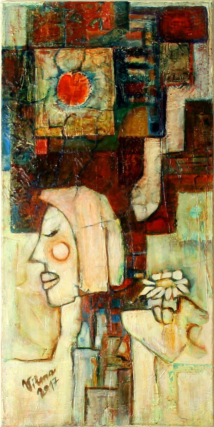 Am und Ea, Acryl, 40x80