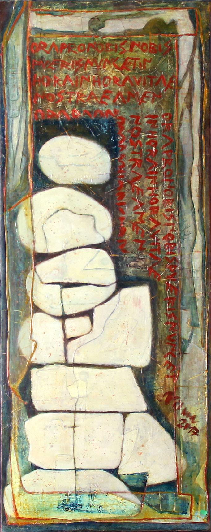 Erinnerung III, Acryl, 40x100