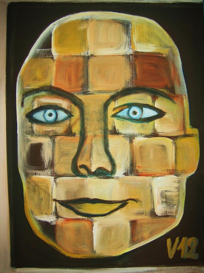 Portrait einer Frau, Acryl, 40x50