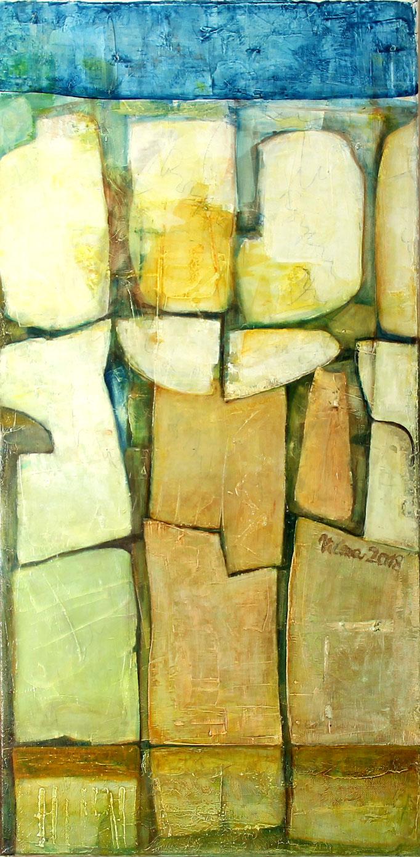 Tulpen, Acryl, 50x100