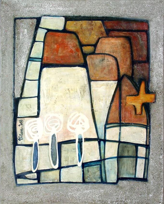 Rovinj II, Mischtechnik, 80x100