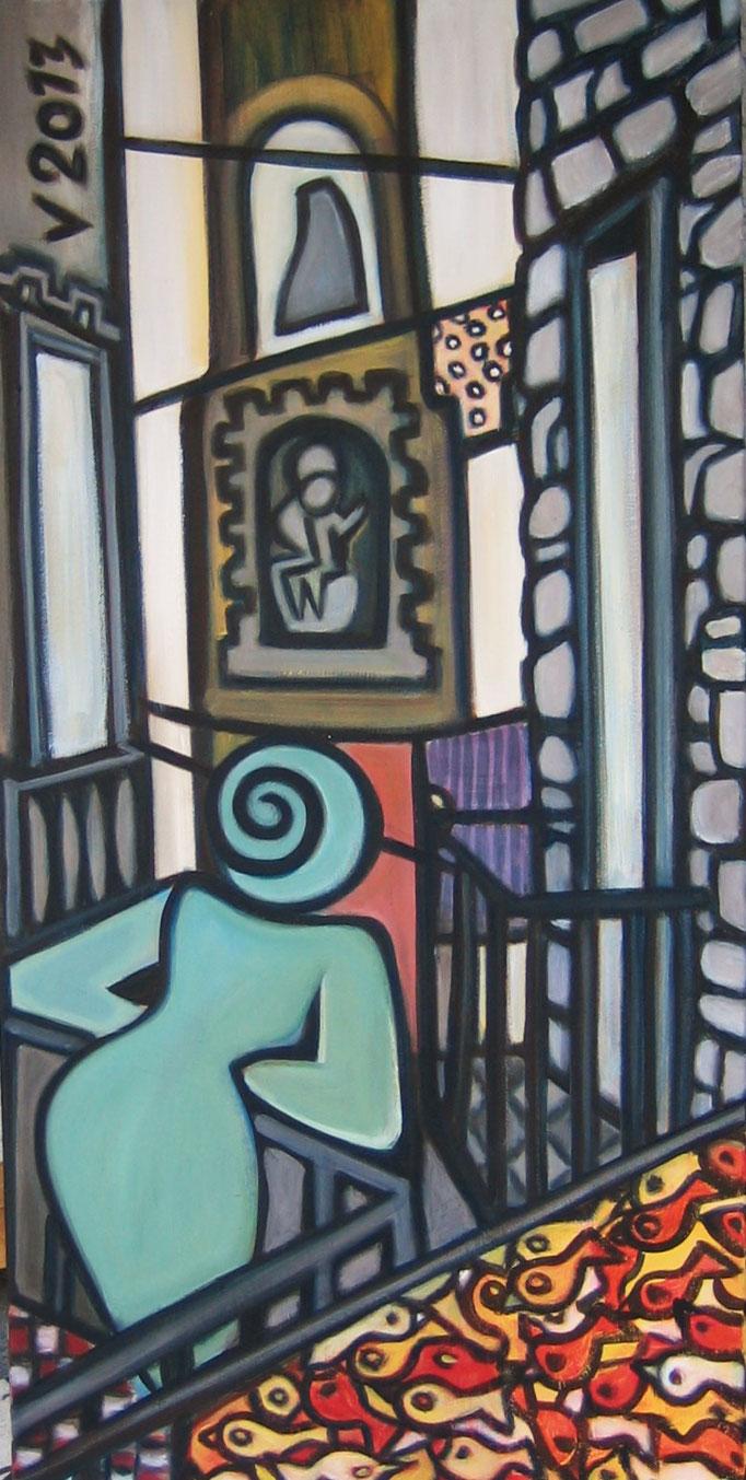 Neapel, Acryl, 40x80