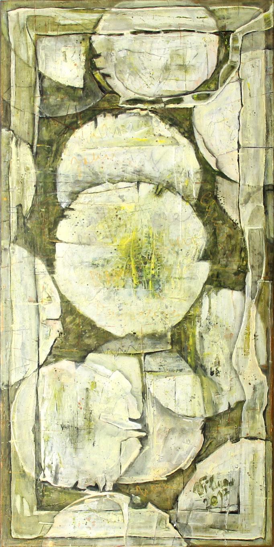 Pusteblumen III, Acryl, 50x100
